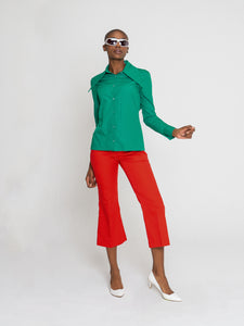 Sonia Shirt Emerald Green