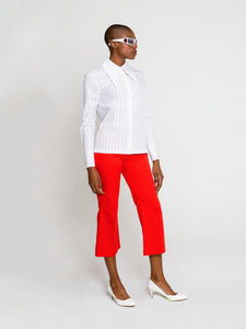 Sonia Shirt Red Pin Stripe