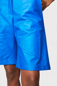 Lulu Short Cobalt Blue Leather