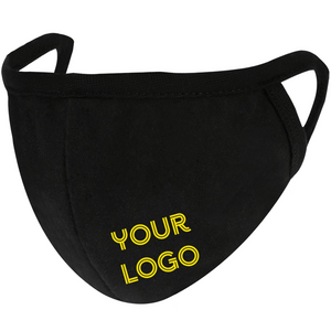Face Mask With Your Own Logo - Washable Reusable Cloth - One Color Print.-EZM008