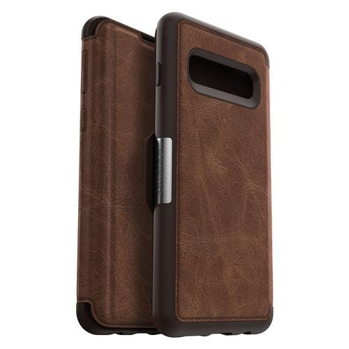 Book Cover strada brown (Samsung Galaxy S10)