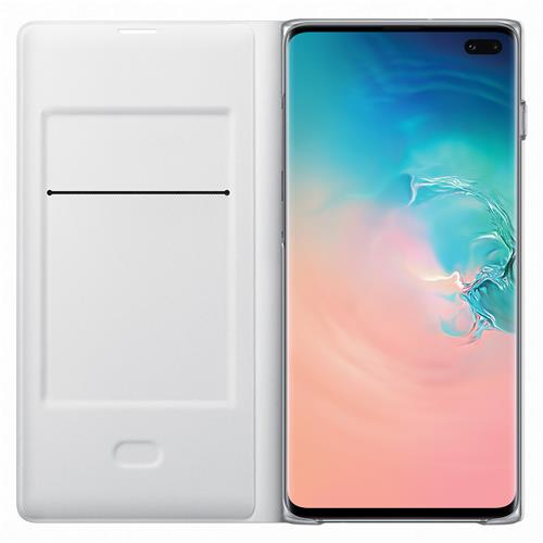 Book Cover mit LED View white (Samsung Galaxy S10 Plus)