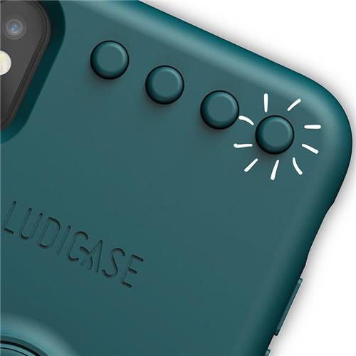 Back Cover click&spin jungle blue (Apple iPhone X/XS)
