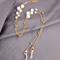 Masken- und Brillenkette big pearl white/gold