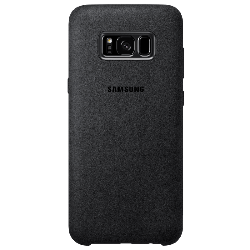 Back Cover alcantara black (Samsung Galaxy S8 Plus)