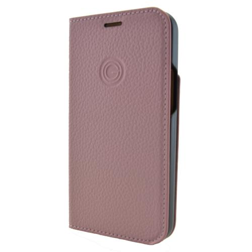 Book Cover Echtleder rose tan (Apple iPhone 12 Mini)