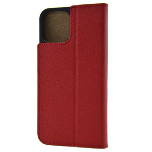 Book Cover Echtleder marc swiss red (Apple iPhone 12 Pro Max)