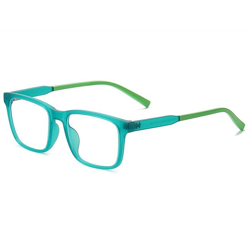 Elves - (Age 7-12)Children Blue Light Blocking Computer Reading Gaming Glasses-Matte Transparent Green