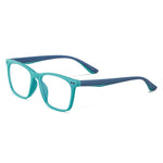 Genius - (Age 7-12)Children Blue Light Blocking Computer Reading Gaming Glasses-Blue