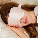 100% Pure Silk Double-Side Eyes Mask Sleep Mask - Pink