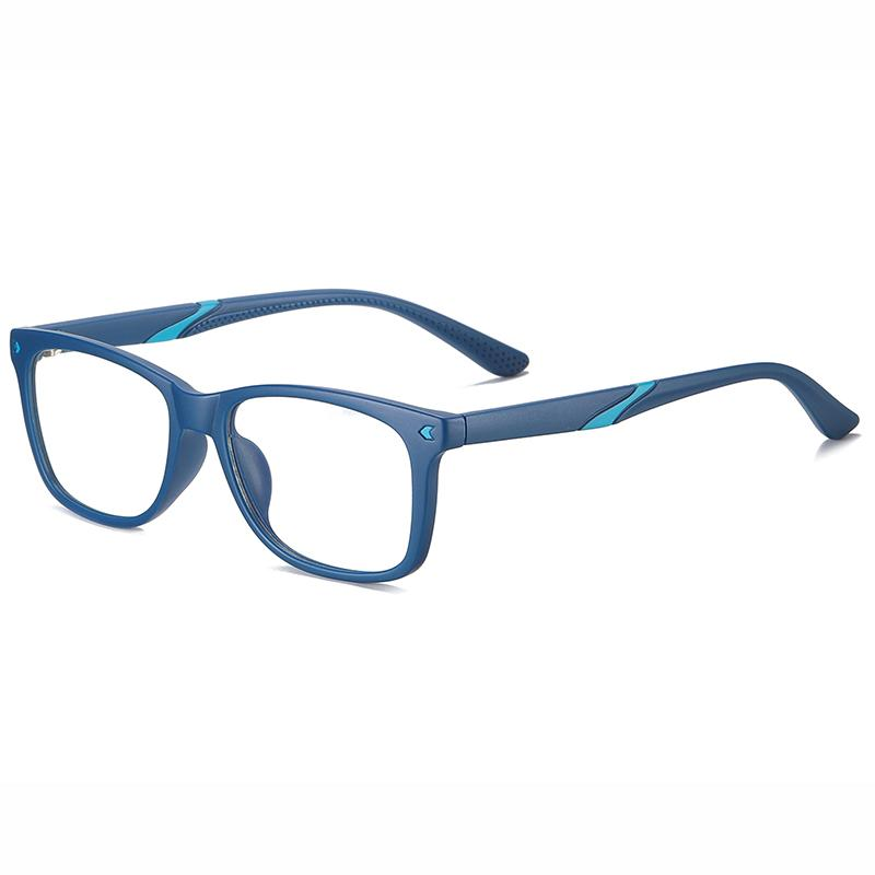 Wise - (Age 7-12)Children Blue Light Blocking Computer Reading Gaming Glasses - Sand Blue