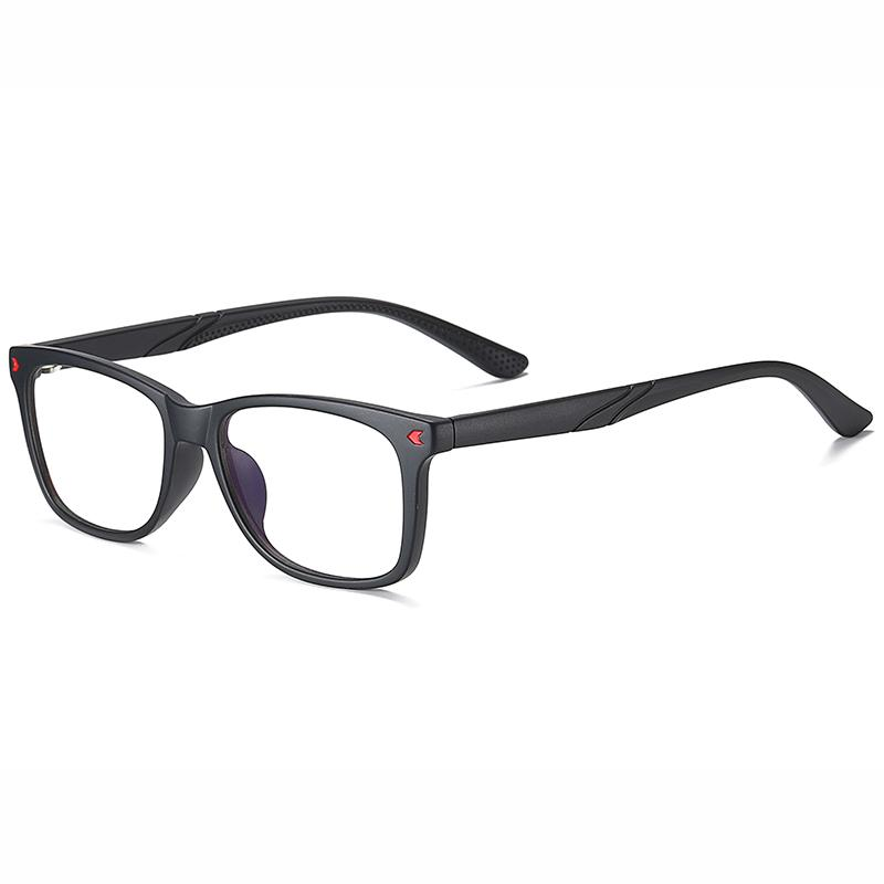 Wise - (Age 7-12)Children Blue Light Blocking Computer Reading Gaming Glasses - Sand Black Red