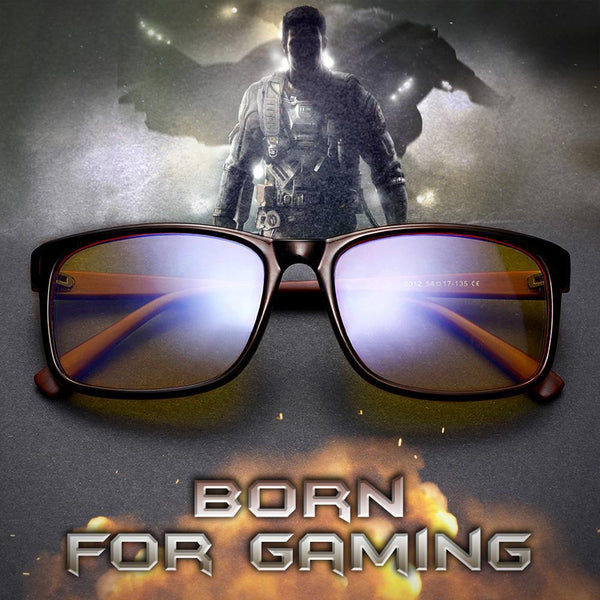 Blizzard - Adults Professional Gaming Glasses Blue Light Blocking Glasses - Brown