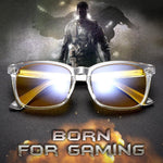 SIERRA - Adults Professional Gaming Glasses Blue Light Blocking Glasses - Clear Crystal