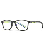 Thoth - (Age 13-18)Teens Blue Light Blocking Computer Reading Gaming Glasses - Matte Black/Green