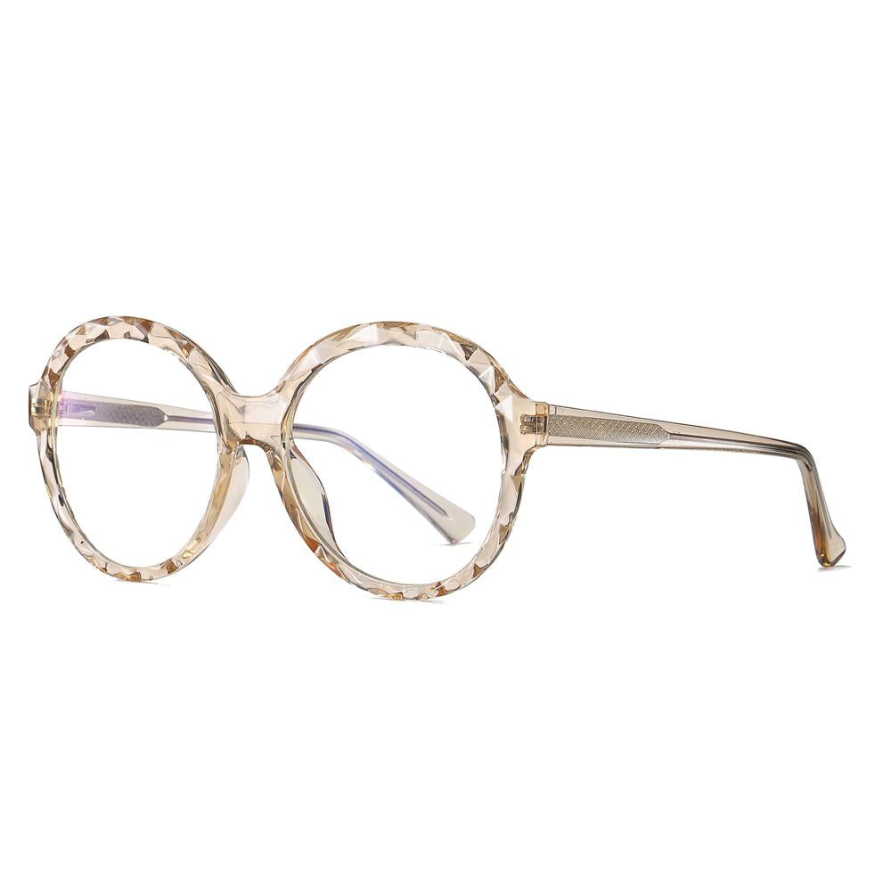 Mori - Fashion Blue Light Blocking Computer Reading Gaming Glasses - Transparent Champagne