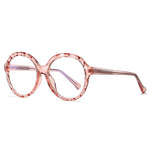 Mori - Fashion Blue Light Blocking Computer Reading Gaming Glasses - Transparent Pink