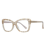 Hope - Fashion Blue Light Blocking Computer Reading Gaming Glasses - Transparent Champagne