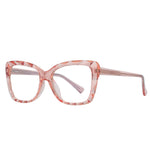 Hope - Fashion Blue Light Blocking Computer Reading Gaming Glasses - Transparent Pink