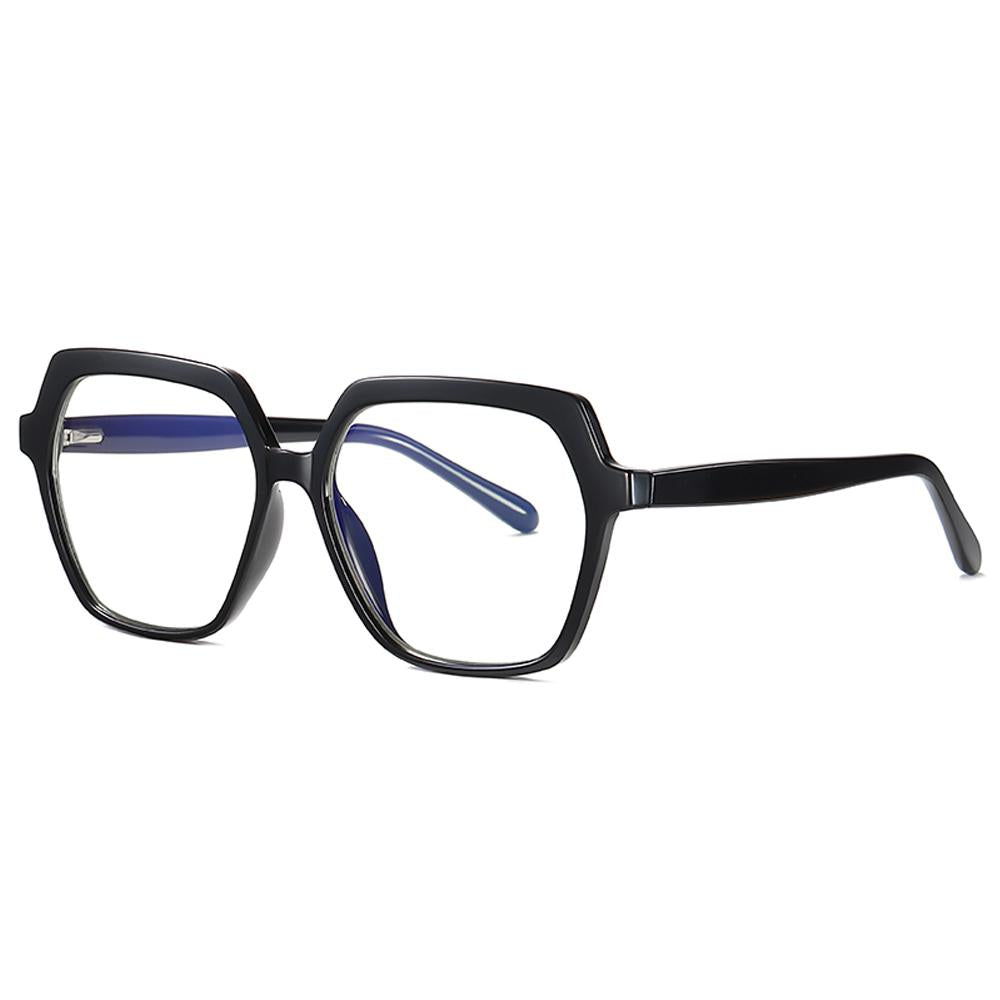 Believe - Fashion Blue Light Blocking Computer Reading Gaming Glasses - Bright Black