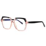 Believe - Fashion Blue Light Blocking Computer Reading Gaming Glasses - Transparent Pink