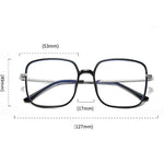 Star - Fashion Blue Light Blocking Computer Reading Gaming Glasses - Transparent Purple