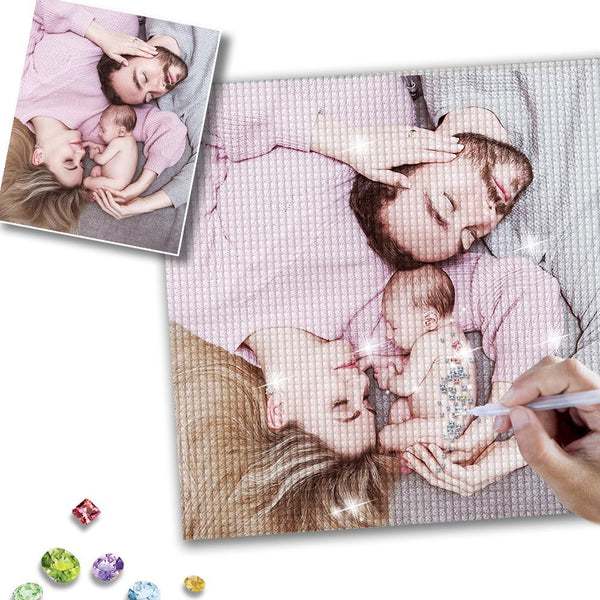 5D DIY Custom Photo Full Square/Round Drill Diamond Painting Unique Gift for Family