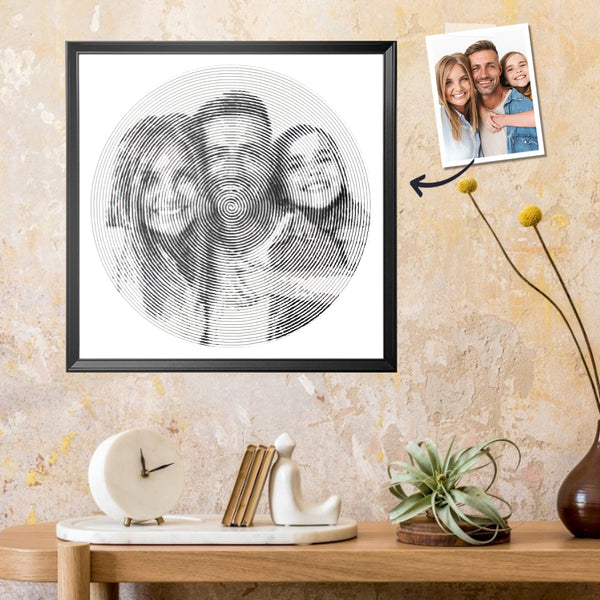 Father's day Gift Custom Spiral Portrait Painting Diy Spiral Painting Personalized Photo Spiral Portrait Art