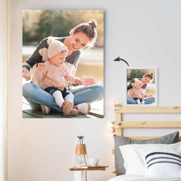 Custom Photo Wall Decor Painting Canvas Without Frame Mother's day Gift