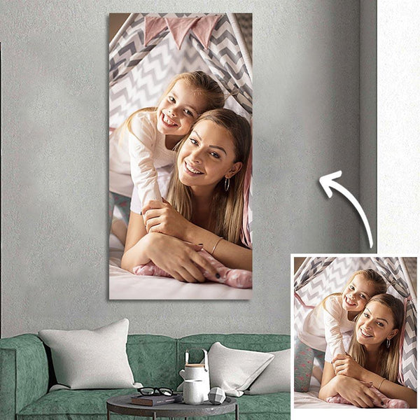 Father's day Gift Custom Photo Wall Decor Painting Canvas Without Frame