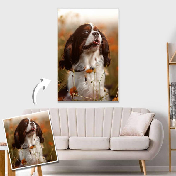 Custom Pet Photo Wall Decor Painting Canvas Without Frame