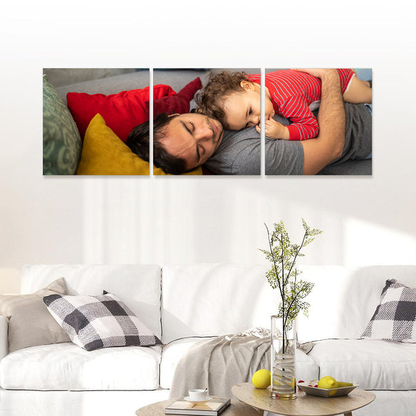 Custom Pet Photo Wall Decor Painting Canvas 3 Pieces Without Frame