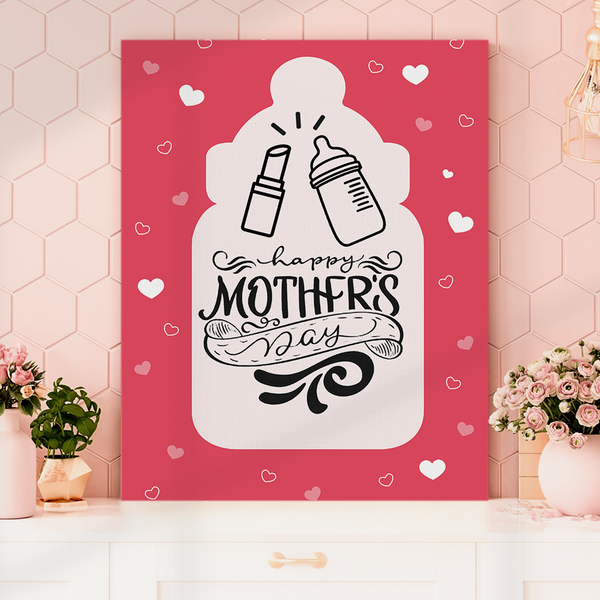 Vertical Version Happy Mother's Day Painting Canvas-Cheers Painting Canvas