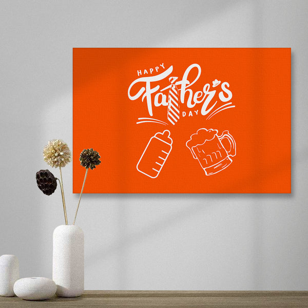 Horizontal version Happy Father's Day Painting Canvas