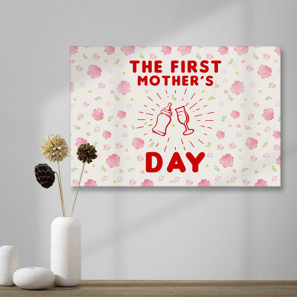 Happy The First Mother's Day Horizontal version Painting Canvas