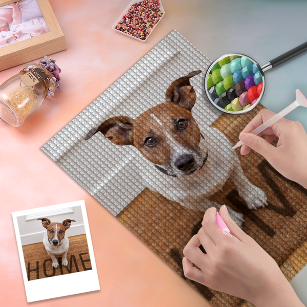 5D Diy Custom Dog Photo Diamond Painting