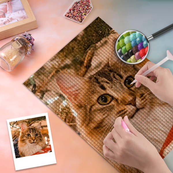 5D Diy Custom Cat Photo Diamond Painting