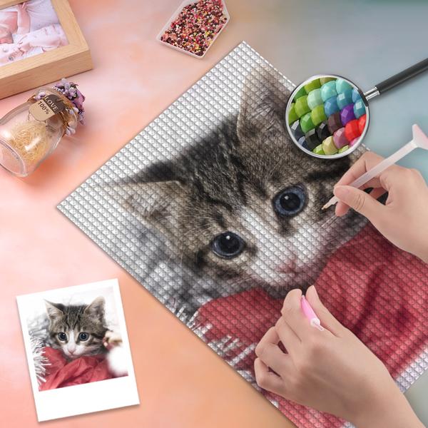 5D Diy Custom Pet Cat Photo Diamond Painting