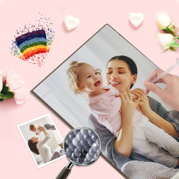 Custom Diamond Painting Kit Personalized Photo 5D DIY Diamond Painting Mother's Day Best Gift for Her
