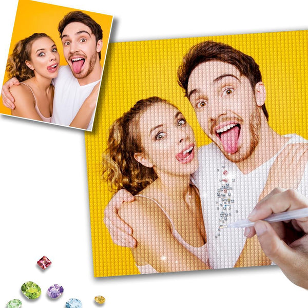 DIY Custom Fun Couple Photo Full Square/Round Drill Diamond Painting Anniversary Gift