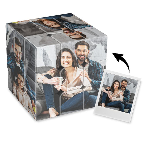Custom Multi Photo Rubik's Cube - For Happy Couple