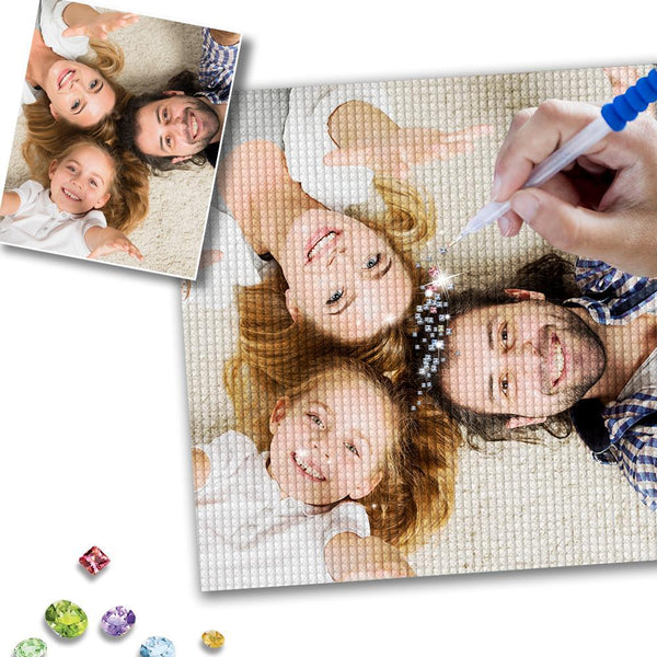Custom Family Photo 5D DIY Full Square/Round Drill Diamond Painting