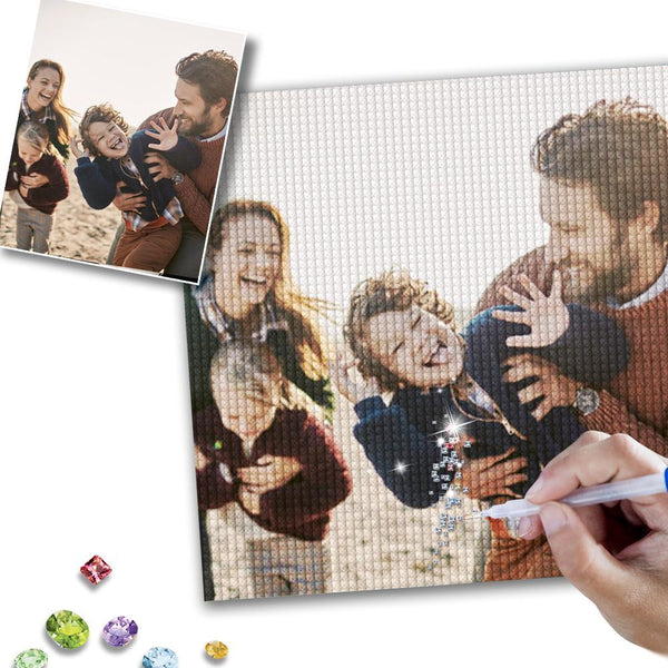 5D DIY Custom Photo Full Square/Round Drill Diamond Painting-To My Family