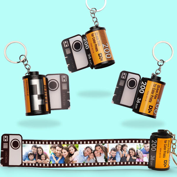 Custom Colorful Camera Roll Keychain - Family
