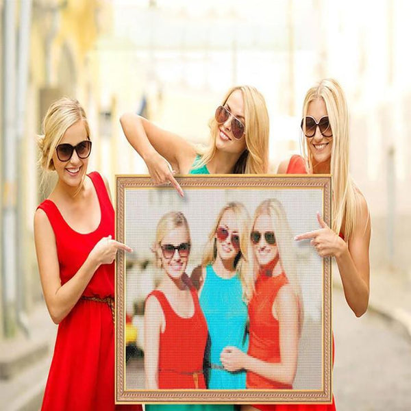 5D Diy Custom Good Sisters Photo Diamond Painting