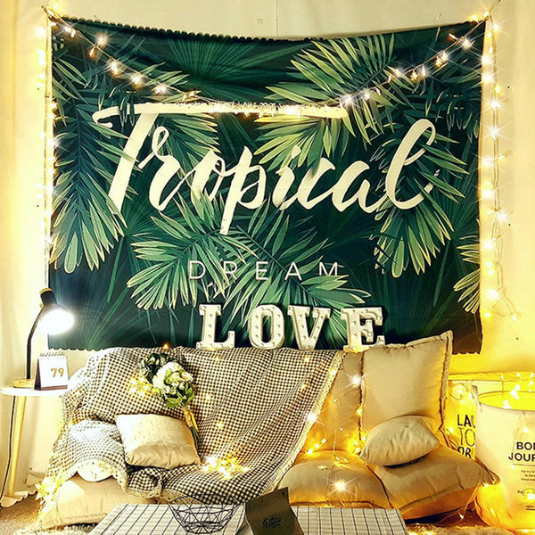 Personalized Photo Tapestry Tropical Wall Decoration