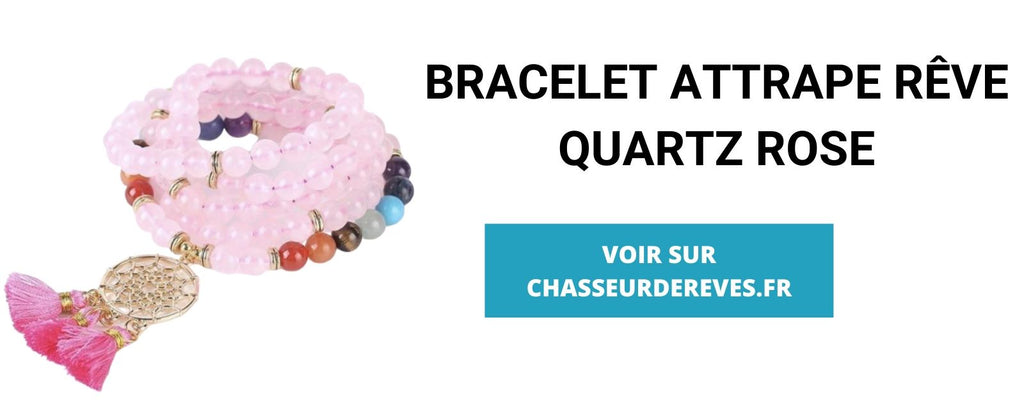 BRACELET ATTRAPE RÊVE QUARTZ ROSE