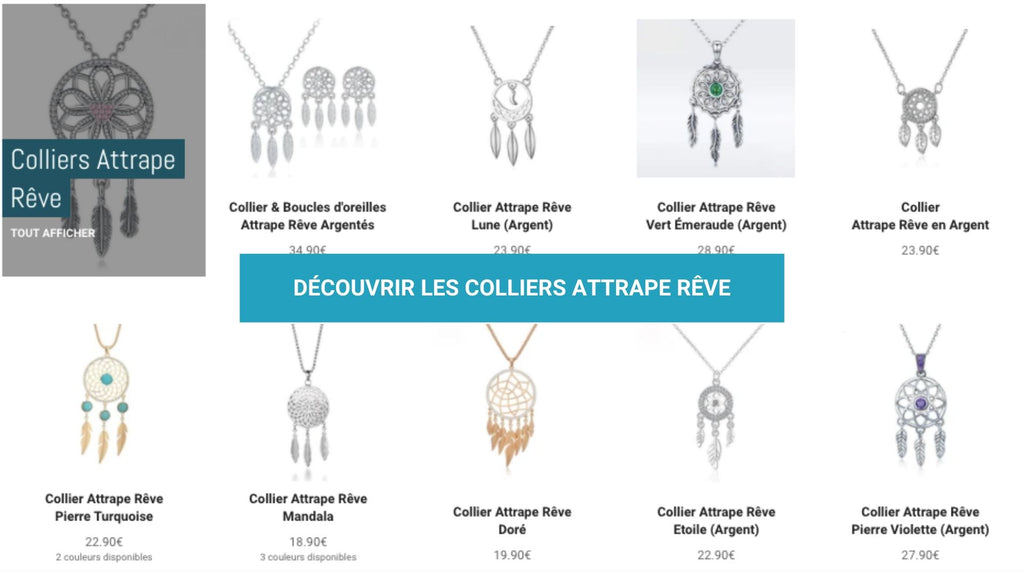 COLLIERS ATTRAPE RÊVE