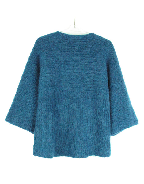 BIJOUX BUTTON MOHAIR KNIT JACKET