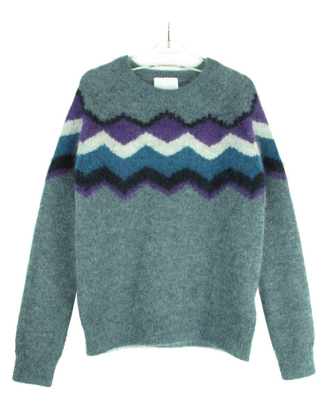MOHAIR JACQUARD SWEATER
